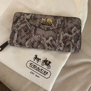 Coach Python Embossed Zipper Wallet